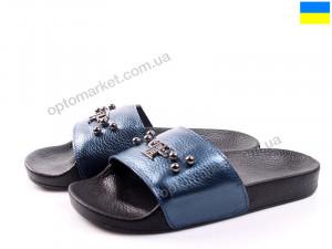 Шлепки женские М01 лазурь флот Anry синий оптом от Optomarket