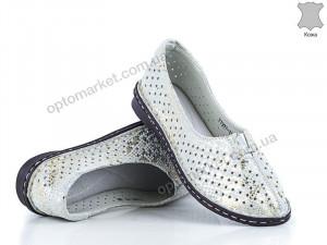 Купить Туфли женские 134932 Allshoes серебряный