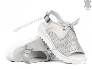 Купить Босоножки женские 142133 Allshoes серебряный