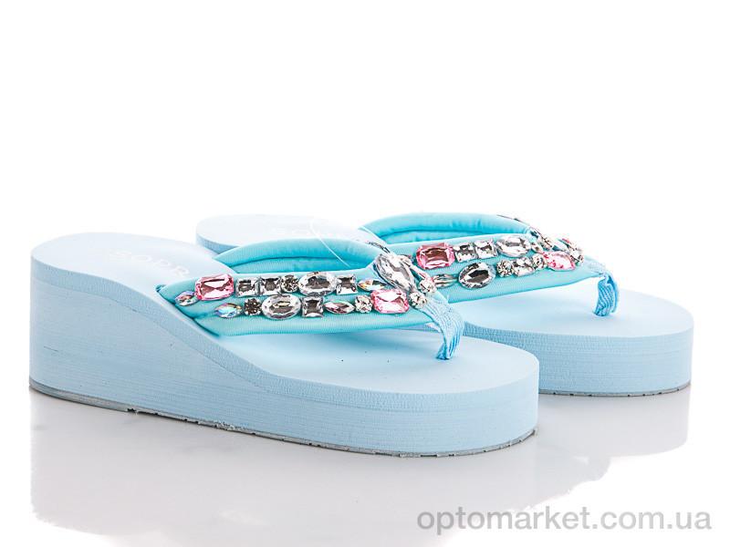 Купить Шлепки женские 135688 Sopra голубой, фото 2