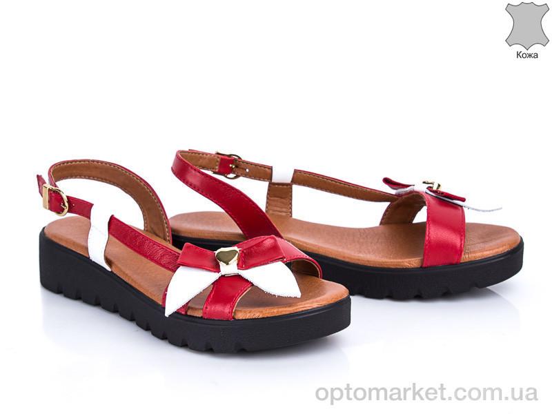 Купить Босоножки женские 305 красно-белый G&M красный, фото 2