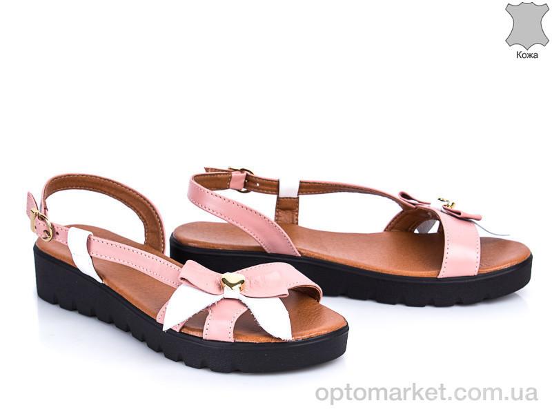 Купить Босоножки женские 305 пудра-белый G&M розовый, фото 2