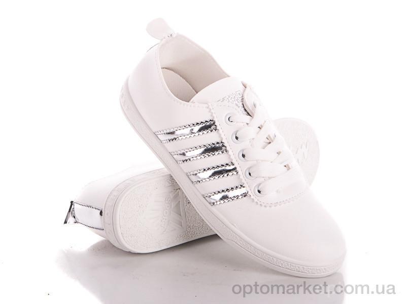 Купить Мокасины женские T107 silver Class Shoes белый, фото 2