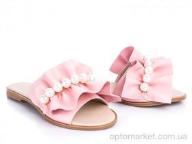 Купить Шлепки женские 116 пудра G&M розовый