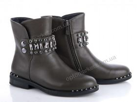 Купить Ботинки детские 37-H1101-C Эльффей хаки