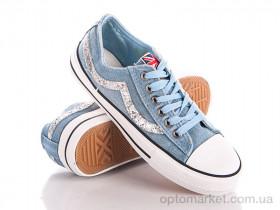 Купить Кеды женские X-6-1 l.blue Class Shoes голубой